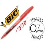 Bolígrafo Bic cristal clic gel retractil color rojo 0,7 mm