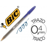 Bolígrafo Bic cristal color azul blister 5