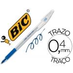 Bolígrafo Bic cristal grip color azul