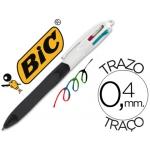 Bolígrafo Bic cuatro colores con grip colore negro punta 1,3 mm