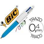 Bolígrafo Bic cuatro colores mini punta media 1 mm