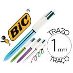 Bolígrafo Bic cuatro colores shine colores metalizados punta de 1 mm