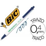 Bolígrafo Bic ecolution clic stic reciclado color azul