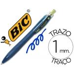 Bolígrafo Bic reaction ecológico color azul retratil tinta de aceite