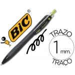Bolígrafo Bic reaction ecológico color negro retratil tinta de aceite