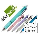 Bolígrafo Liderpapel 5 en 1 color azul negro rojo verde 0,7m y portaminas 0,5 mm