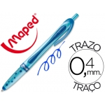 Bolígrafo Maped freewriter retractil color azul