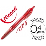 Bolígrafo Maped freewriter retractil color rojo