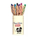 Bolígrafo Paper-Mate Replay estuche de metal de 12 colores surtidos