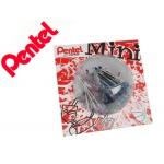 Bolígrafo Pentel bk77 mini colores surtidos negro azul rojo verde violeta y rosa