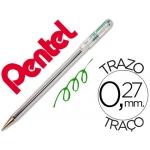 Bolígrafo Pentel d color verde
