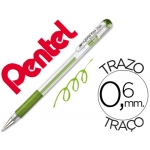 Bolígrafo Pentel hybrid gel color verde claro