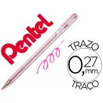 Bolígrafo Pentel p color rosa