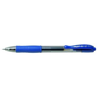 Bolígrafo Pilot G-2 color azul tinta gel retráctil sujeción de caucho