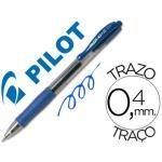 Bolígrafo Pilot color azul tinta gel retractil sujeción de caucho