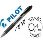 Bolígrafo Pilot color negro tinta gel retractil sujeción de caucho