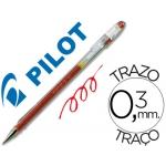 Pilot G-1 - Bolígrafo de tinta de gel, punta redonda de 0,5 mm, color rojo