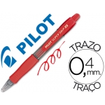 Bolígrafo Pilot super grip pixie mini color rojo tinta base de aceite punta de bola de 1,0 mm retractil