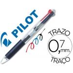 Bolígrafo Pilot trio transparente negro-azul-rojo 3 en 1