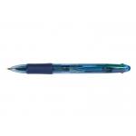 Bolígrafo Q-Connect 4 en 1 tinta 4 colores retractil con sujeción de caucho