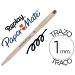 Bolígrafo Paper-Mate Replay color negro con goma de borrar
