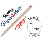 Bolígrafo Paper-Mate Replay color rojo con goma de borrar