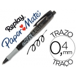 Bolígrafo Paper-Mate Replay Max color negro con goma de borrar