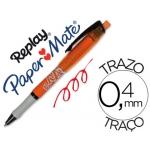 Bolígrafo Paper-Mate Replay Max color rojo con goma de borrar