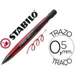 Bolígrafo Stabilo com4 color azul retractil 0,5 mm tinta de aceite cuerpo rojo