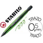 Bolígrafo Stabilo com4 color azul retractil 0,5 mm tinta de aceite cuerpo verde