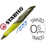 Bolígrafo Stabilo easy color azul retractil 0,5 mm tinta de aceite cuerpo verde lima