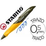 Bolígrafo Stabilo easy color azul retractil 0,5 mm tinta de aceite cuerpo verde naranja