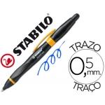 Bolígrafo Stabilo smartball con puntero para pantalla tactil color azul 0,5 mm cuerpo negro y naranja