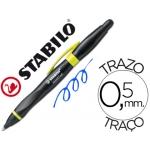 Bolígrafo Stabilo smartball con puntero para pantalla tactil color azul 0,5 mm cuerpo negro y verde kiwi