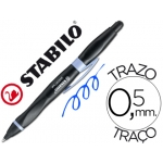 Bolígrafo Stabilo smartball con puntero para pantalla tactil color azul 0,5 mm para zurdos cuerpo negro y lila