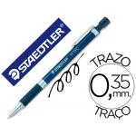 Bolígrafo Staedtler 925bvt diseño tecnico cuerpo metalicopunta retractil de mm