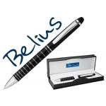 Boligrafo belius helsinki lacado negro en estuche