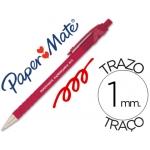Bolígrafo flexgrip retractil color rojo