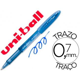 Bolígrafo uni-ball fanthom borrable 0,7 mm tinta gel color azul