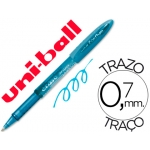 Bolígrafo uni-ball fanthom borrable 0,7 mm tinta gel color azul claro