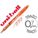 Bolígrafo uni-ball fanthom borrable 0,7 mm tinta gel color naranja