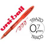 Bolígrafo uni-ball fanthom borrable 0,7 mm tinta gel color rojo