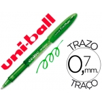 Bolígrafo uni-ball fanthom borrable 0,7 mm tinta gel color verde