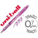 Bolígrafo uni-ball fanthom borrable 0,7 mm tinta gel color violeta
