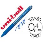 Bolígrafo uni-ball laknock retractil color azul