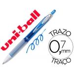 Bolígrafo uni-ball roller retractil 0,7 mm color azul