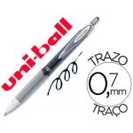 Bolígrafo uni-ball roller retractil 0,7 mm color negro