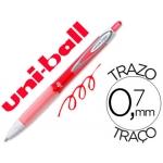 Bolígrafo uni-ball roller retractil 0,7 mm color rojo