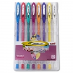 Bolígrafo uni ball signo 0,7 mm tinta gel estuche de 8 colores pastel