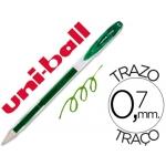 Bolígrafo uni-ball signo color verde 0,7 mm tinta gel